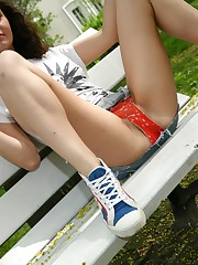 Teen outdoor upskirt
