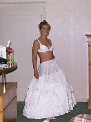 Photos of Hot Bride In Wedding Dress