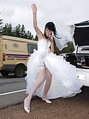 A bride in action images