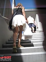 One of the hottest, sexiest, upskirts on stairs