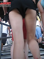 Upshorts looking up skirts, her booty is so tight