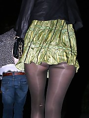 pantyhose no panties under skirt pics