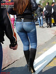 Tight jeans girls horny back view