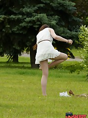 A series of erotic park upskirts
