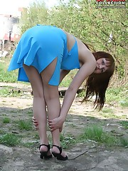 Awesome outdoor upskirt
