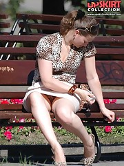 Spy nude pussy and ass upskirt in the park candid upskirt