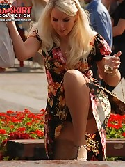 Strong wind causes thong upskirt moments celebrity upskirt
