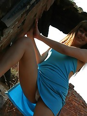 Awesome outdoor upskirt upskirt pantyhose