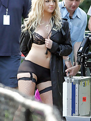Britney Spears upskirt collection candid upskirt