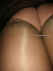 Their thin panties are masterpieces of art when they are covering wet cunt upskirt no panties