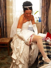 Set of Hot Bride In Wedding Dress celebrity upskirt