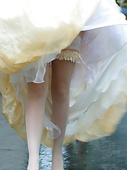 Gellery of Older And Teen Bride upskirt picture