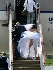 Gellery of Hot Bride In Wedding Dress upskirt shot