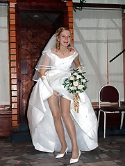 Gallery of Bride In Lingerie On Bed upskirt pic