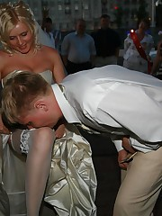 Photos of Hot Euro Bride upskirt picture