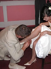 Photos of Hot Euro Bride upskirt photo