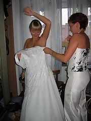 Photos of Hot Euro Bride up skirt pic