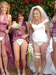 Photos of Hot Euro Bride upskirt no panties