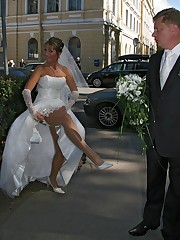 Pictures of Sweet And Inocent Bride Gets Nasty upskirt pic