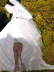 Pictures of Sweet And Inocent Bride Gets Nasty upskirt no panties