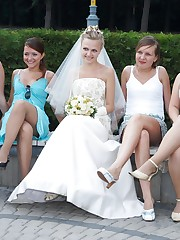 Naughty Brides upskirt photos upskirt shot