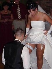 Naughty Brides upskirt photos celebrity upskirt