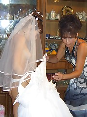 Naughty Brides upskirt photos upskirt no panties