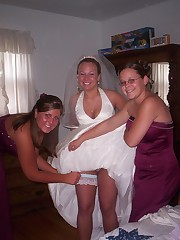 Naughty Brides upskirt photos upskirt pic