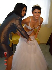 Naughty Brides upskirt photos up skirt pic