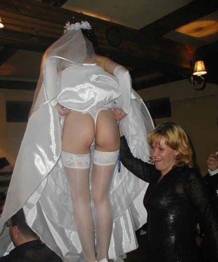 Upskirt bride sex