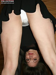 Girls upskirts are caught on cameraman's device upskirt pic