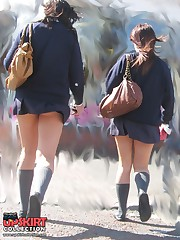 Panty up skirts asian schoolgirl. What can be hotter? upskirt pantyhose