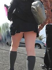 Panty up skirts asian schoolgirl. What can be hotter? upskirt picture