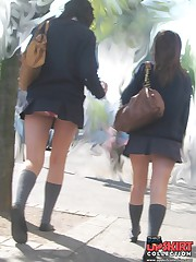 Panty up skirts asian schoolgirl. What can be hotter? up skirt pic