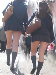 Panty up skirts asian schoolgirl. What can be hotter? upskirt pussy