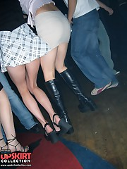 Crazy party chicks showing their upskirts upskirt picture