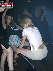 Crazy party chicks showing their upskirts up skirt pic