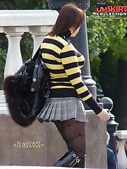 Busty slut voyeured. Pantyhose upskirts, and not only upskirt picture