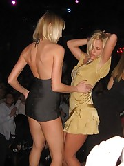Naughty girls dancing. Party upskirts upskirt photo