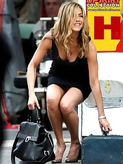 Jennifer Aniston upskirt pictures upskirt photo