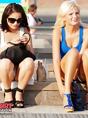Upskirt girls expose their panties candid upskirt