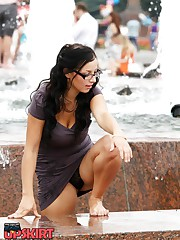 Hot and steamy street upskirts celebrity upskirt