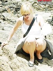 Spectacular outdoor sitting upskirts upskirt picture