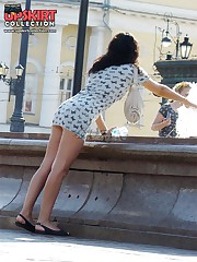 Gorgeous summer dress upskirts upskirt pantyhose