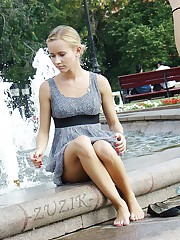 Gorgeous summer dress upskirts upskirt no panties