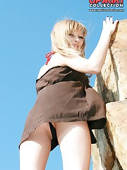 Amazing outdoor upskirt footage upskirt photo