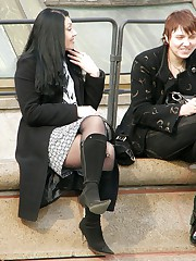 Great sitting upskirt photos upskirt pantyhose