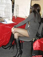 Up skirt xxx fun of leggy bimbos up skirt pic