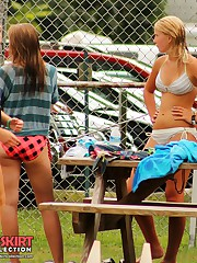 Voyeur hunter caught many bikinis celebrity upskirt