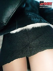 Naughty blonde pissing up skirt celebrity upskirt